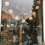 Новогодние украшения 2019: новогодний рисунок на окне
