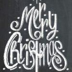 Новогодние украшения 2019: рисунок merry christmas