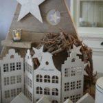 Новогодние украшения 2019: декоративные домики ширма