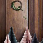 Новогодние украшения 2019: елки из бумаги розовые
