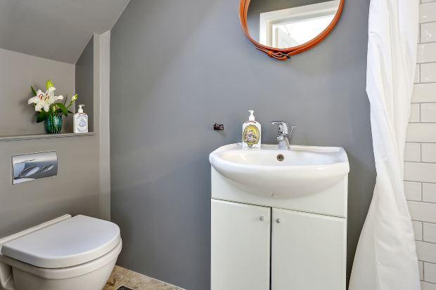 Квартира в скандинавском стиле в Копенгагене: ванная комната