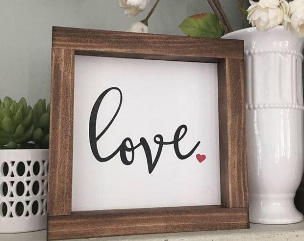 Идеи на День Святого Валентина: картина love