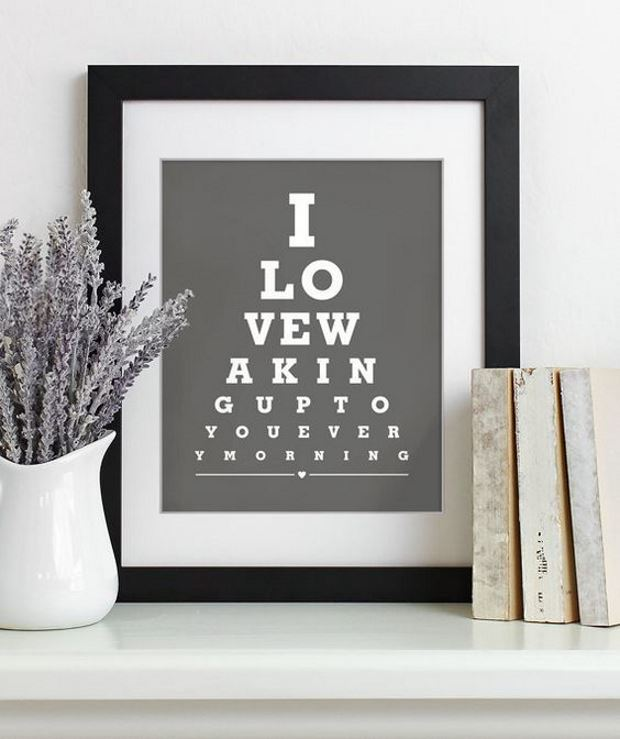Идеи на День Святого Валентина: постер про любовь