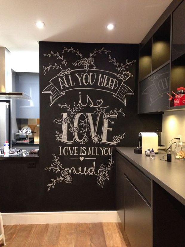Идеи на День Святого Валентина: грифельная стена ко дню святого валентина