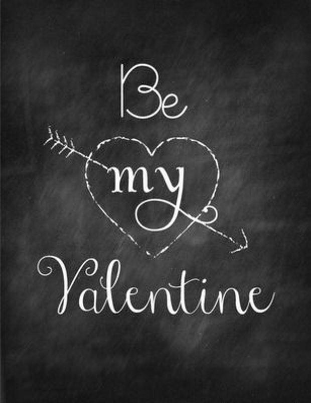 Идеи на День Святого Валентина: надпись мелом на день влюбленных