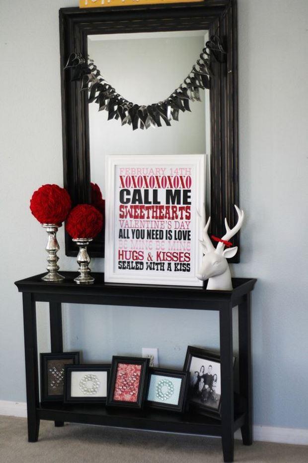 Идеи на День Святого Валентина: постер с текстом