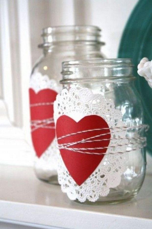 Идеи на День Святого Валентина: банки с сердцами