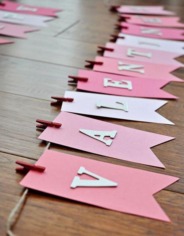Идеи на День Святого Валентина: розовые флажки