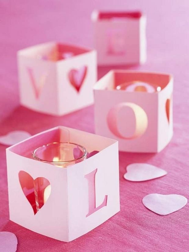Идеи на День Святого Валентина: свечи в декоративных коробках