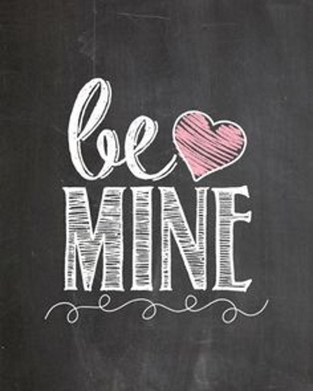 Идеи на День Святого Валентина: рисунок мело be mine