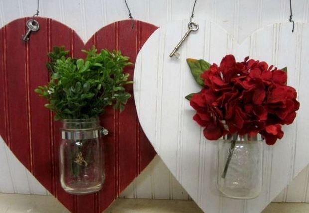 Идеи на День Святого Валентина: панно с живыми цветами