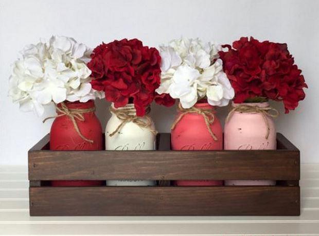 Идеи на День Святого Валентина: гортензии в вазах