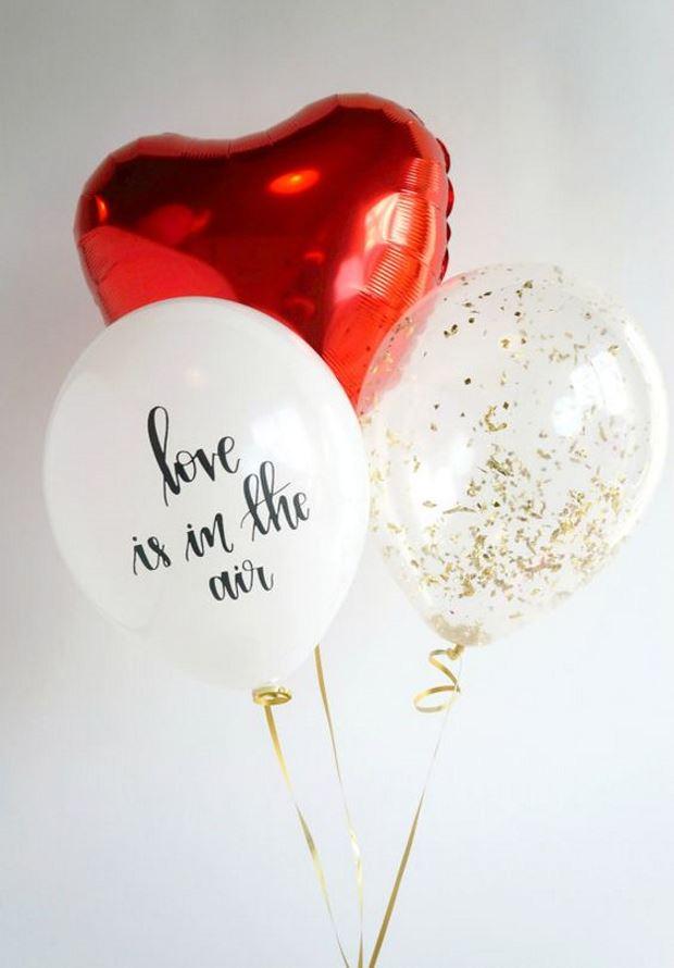 Идеи на День Святого Валентина: шарики на день святого валентина