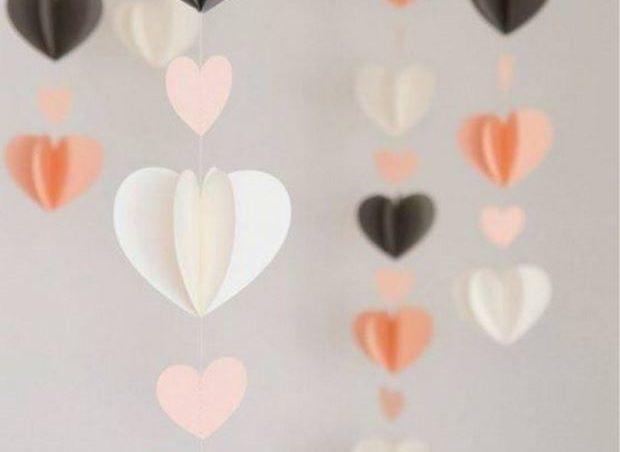 Идеи на День Святого Валентина: красивая гирлянда