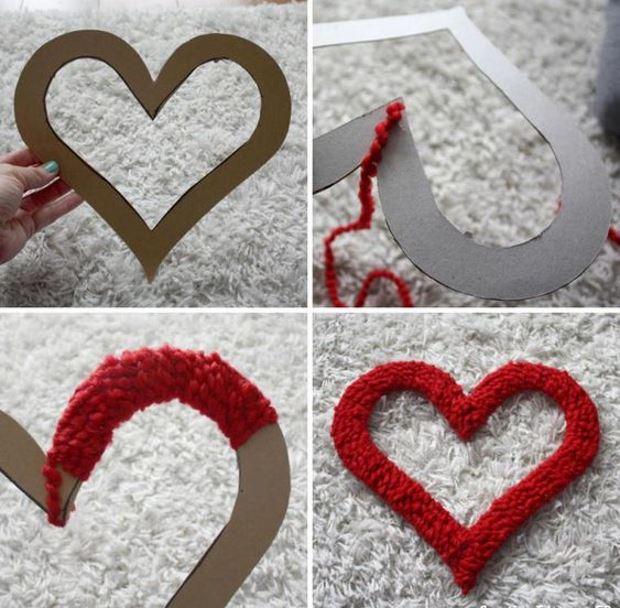 Идеи на День Святого Валентина: сердце хендмейд